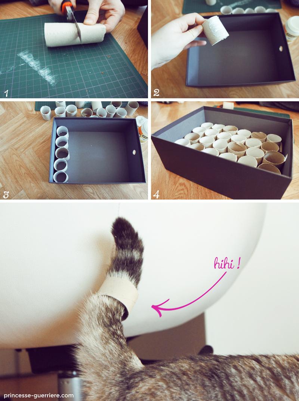 """Fabriquer Un Dévidoir Papier Toilette diy pour chats: la gamelle pour chats """"stimulo"""""""